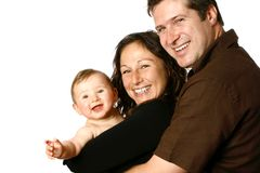 Belle jeune famille Photographie stock