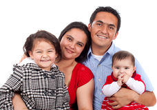 Belle jeune famille heureuse Photographie stock