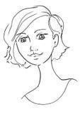 Belle jeune femme Images libres de droits