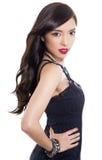 Belle jeune femme asiatique avec la peau parfaite sur le fond d'isolement Images libres de droits