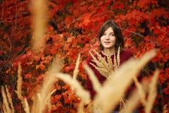 Belle jeune femme Autumn Portrait Photographie stock libre de droits