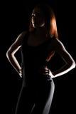 Belle jeune femme avec des cheveux rouges Image stock