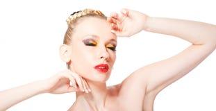 Belle jeune femme blonde Photo stock