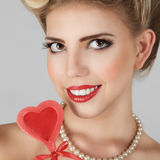 Belle jeune femme blonde Photos stock