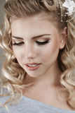 Belle jeune femme blonde Photographie stock