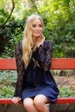 Belle jeune femme blonde Images libres de droits