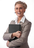 Belle jeune femme d'affaires Photo stock