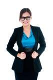 Belle jeune femme d'affaires Images stock