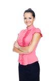 Belle jeune femme d'affaires de sourire Image libre de droits