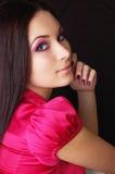 Belle jeune femme d'isolement sur le noir photo libre de droits