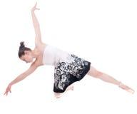 Belle jeune femme de ballerine Image stock