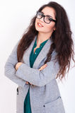 Belle jeune femme en verres Photos libres de droits