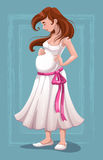 Belle jeune femme enceinte Image stock