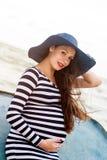 Belle jeune femme enceinte Photos stock