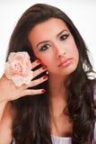 Belle jeune femme exotique image stock