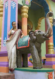Belle jeune femme indienne dans l'habillement traditionnel avec nuptiale image libre de droits