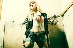 Belle jeune femme sexy hippie Portrait d'un beau mod frais de mode Photos stock