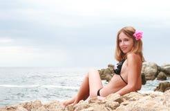 Belle jeune fille Photo libre de droits