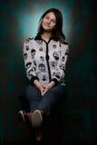 Belle jeune fille dans le studio Image stock