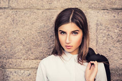 Belle jeune fille à la mode Photographie stock