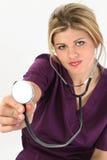 Belle jeune infirmière américaine Photo stock