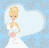 Belle jeune mariée sur un fond abstrait Photo libre de droits