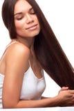 Belle jolie fille avec le long cheveu Image libre de droits