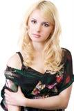 belle jupe blonde noire Photographie stock libre de droits