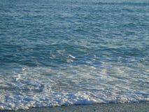 Belle légende de la plage de Varazze Image stock