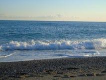 Belle légende de la plage de Varazze Images libres de droits