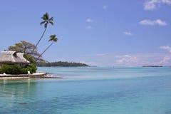 Belle lagune de Polynésie française Images libres de droits