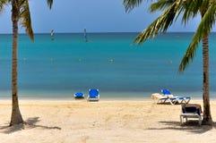 Belle lagune des Caraïbes Photo stock