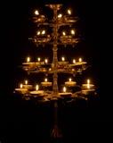 Belle lampe sur un fond noir photos stock