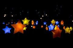 Belle lanterne à l'arrière-plan noir image libre de droits