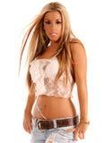 Belle Latina blonde Photos libres de droits