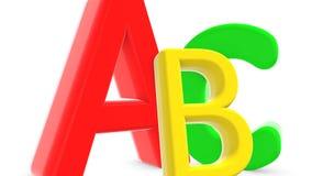 Belle lettere animate ABC Alfabeto tridimensionale con delle le lettere colorate multi royalty illustrazione gratis