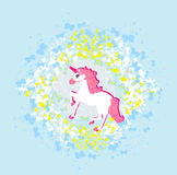 Belle licorne rose. Image stock