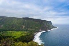 Belle ligne de côte de l'océan pacifique en Hawaï. Photos stock