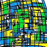 Belle linee colorate graffiti su un'illustrazione nera del fondo illustrazione di stock