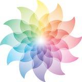 Belle Lotus Flower Color Wheel Icon Photos libres de droits