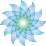 Belle Lotus Flower Icon bleue Photo stock