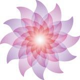 Belle Lotus Flower Icon pourpre Photo stock