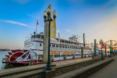 Belle of Louisville. Louisville, KY, USA - Feb 5, 2016: Belle of Louisville at Waterfront Park Wharf in Louisville Ky. The Belle is the oldest operating Stock Images