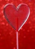 Belle lucette rouge dans la forme de coeur. Symbole de l'amour doux Photo libre de droits