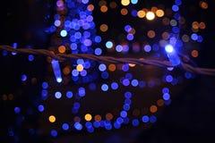 Belle luci blu brillanti Fotografia Stock Libera da Diritti
