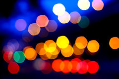 Belle luci del bokeh Fotografia Stock