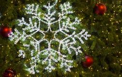 Belle luci dell'albero di Natale Fotografia Stock Libera da Diritti