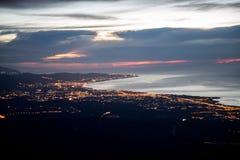 Belle luci della città di notte Fotografie Stock Libere da Diritti