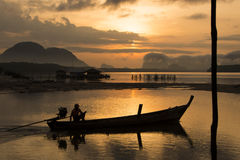 Belle lumière de matin chez Baan Sam Chong Tai Photographie stock libre de droits