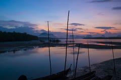 Belle lumière de matin chez Baan Sam Chong Tai Images stock
